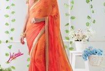 JAIMALA - Designer Printed Sarees / Buy the latest  chiffon, georgette designer printed saree  from Laxmipati Sarees.