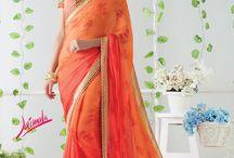 JAIMALA - Designer Printed Sarees / Buy the latest  chiffon, georgette designer printed saree  from Laxmipati Sarees.