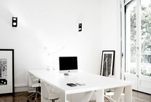 OFFICE Design + Decor / Office interior design and decor inspiration - desks, built-ins, desk chairs, office chairs, artwork, renovations, DIY office projects, organization, filing cabinets, shelf styling, studio space, loft living, creative space, renovations, styling tips and tricks, books, rugs, lighting, desk lamps, and window treatments.