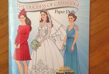 Paper Dolls Princess Diana Duchess CAMBRIDGE KATE Middleton / Paper dolls