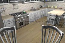 La cucina provenzale by Consigli D'arredo / Progetto d'arredo in 3D della cucina in stile provenzale con caratteristiche metropolitane