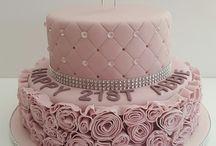 Růžové dorty