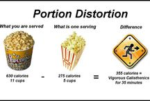 """Right Size Your Portions / Larger portion sizes encourage people to eat and drink more – no matter how hungry we are. The more we are served, the more we eat. This leads to weight gain because people consume more calories than they need. Follow this board for tips on """"right sizing your portions!"""" / by Families Food Fitness"""