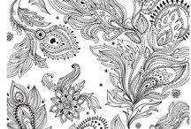 Shaded / Colouring pages and patterns