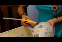 Técnicas: Balão / Machê / Papietagem