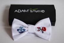 Bowties rustic / handemade embroidery