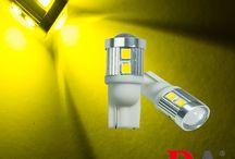 2x-T10-W5W-168-921-Golden-Yellow-2835