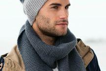 Мужской комплект шарф и шапка