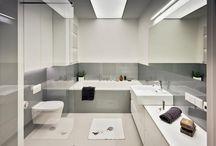 Łazienka szary+biały | Bathroom grey+white