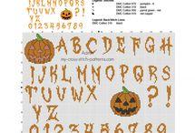 Halloween free cross stitch patterns / Halloween free cross stitch patterns