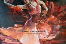 dance / taniec w moim malarstwie