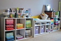 Sewing Rooms / Craft rooms and sewing rooms -- and ideas for making them useful.