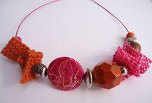FUNKY COLLECTION / collane stravaganti realizzate con perle di vari materiali e forme sempre diverse ed originali....
