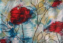 My flower paintings / pabstract flower paintings / by Melania Kosmopoulou