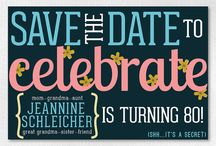 60th Save the date ideas