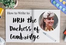Royal Correspondence / Ever wondered how to write to the Duchess of Cambridge, or any other member of the royal family? Here are some tips about how to do it, as well as some royally inspired correspondence methods!