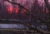 alba, tramonto, giorno, notte.