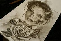 Art by franco Munoz / Art designs tattoos custom black & grey