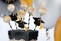 Graduation Sweets and Treats Ideas / Treat the grads to sweets! Celebrate their accomplishments with a classy black, silver and gold table. Click through for cupcake, candy, cake pops and more sweet ideas! / by Party City