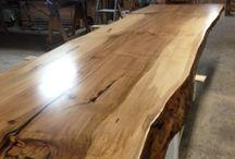 stoly+dřevo