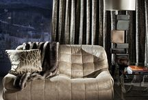 Shadow Mountain Collection - 2013 / The stunning panorama of Shadow Mountain provides the dramatic backdrop to Zinc's über ski chalet, showcasing this diverse collection of fabrics with their subtle patterns, natural textures and degradé qualities.