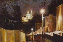 MY PAITING Miroslav Novák / Malba obrazů - akryl / oil and cavanas, nástěnná malba - mural art....