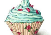 cup cake dekupaj