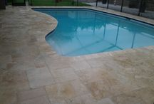 Travertine Paver Installation / Pool deck with travertine Pavers in Largo, FL.  Visit our website for more: www.paverhouse.com