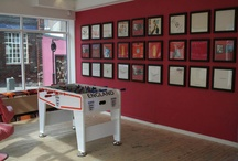 Art Vinyl Football Exhibition / Although the World Cup in 2006 was held in Germany, we displayed our very own Football exhibition at Art Vinyl HQ, featuring an England Flag created out of vinyl record covers. Anyone for a spot of table football? / by Art Vinyl
