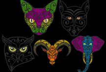 Wild Animal Embroidery Designs