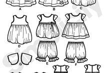 bocetos ropa de bebe