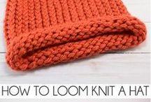 knitting on loon.