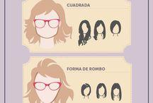 rostro y opciones de gafas