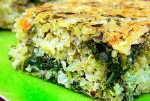 Pastel de quinoa. y espinacas