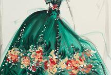 Christian Siriano / Artwork by fashion designer Christian Siriano.