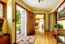 """Doors & Front Entrances / The front door and entrance to your home is all about being welcoming inviting and also it must make you look forward to coming home each time you walk in your front door. Is your home warm inviting and giving you that real feeling of """"Ah, I'm home""""?  http://www.inspiredhomeideas.com/home-front-doors-and-humble-entrances/"""