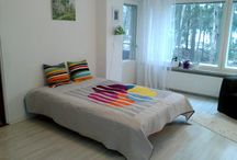 My creations from Marimekko fabrics / One of a kind quilts, pillow covers, bags, zipper pouches and table decor