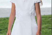 Classic First Communion Dresses / Classic First Holy Communion Dress Styles:  The classic First Communion dress style is still the most popular Communion dress choice. A classic Communion dress is usually Ballerina length (T Length), and has short or long sleeves. http://www.firstholycommunionday.co.uk/classic-first-communion-dresses-39-c.asp