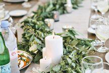 dekoracje stołów prostokątnych