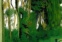 Vallotton + Hockney / Landscapes by Felix Valloton and David Hockney.