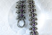 Torusphere Amplexusmaille / Custom Chainmaille Jewelry http://inspiredchromadesign.com/torusphere-amplexusmaille/ / by Jean Bolliger