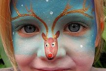 face painting - Christmas