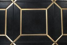 Ellington by Walker Zanger / Inspired by the Jazz Age and Art Deco, the Walker Zanger Ellington Collection features luxurious marble with graphic metallic accents in brass, copper and steel. You'll dig it!
