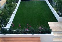 人工芝のガーデニング