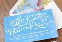 MAP-age + TRAVEL {wedding theme} / All things maps! I love them. And travel too. All the adventures we can have.