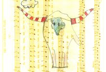 Education (history) & Art / Art that happens at the Heritage Center by students. Ledger art created by students who visit during the Holidays on the Trail 2015 session; Youth Art and more