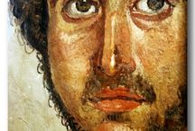 Egyptian Roman Period:  Mummy Portrait (ROMA DÖNEMİ MISIR'INDAN MUMYA POTREKERİ)