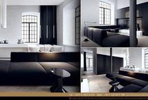 Black and White Interior Design / تعتبر الدراسة المتأنية الممتزجة بالأحاسيس والمكرسة لتطوير تصاميمنا الإبداعية ، السبب الرئيسي لنجاح الشركة في مجال التصميم الداخلي .
