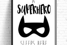 superheroes' bedroom