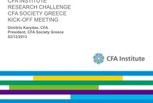 CFA Institute Research Challenge 2014 / by PLAISIO